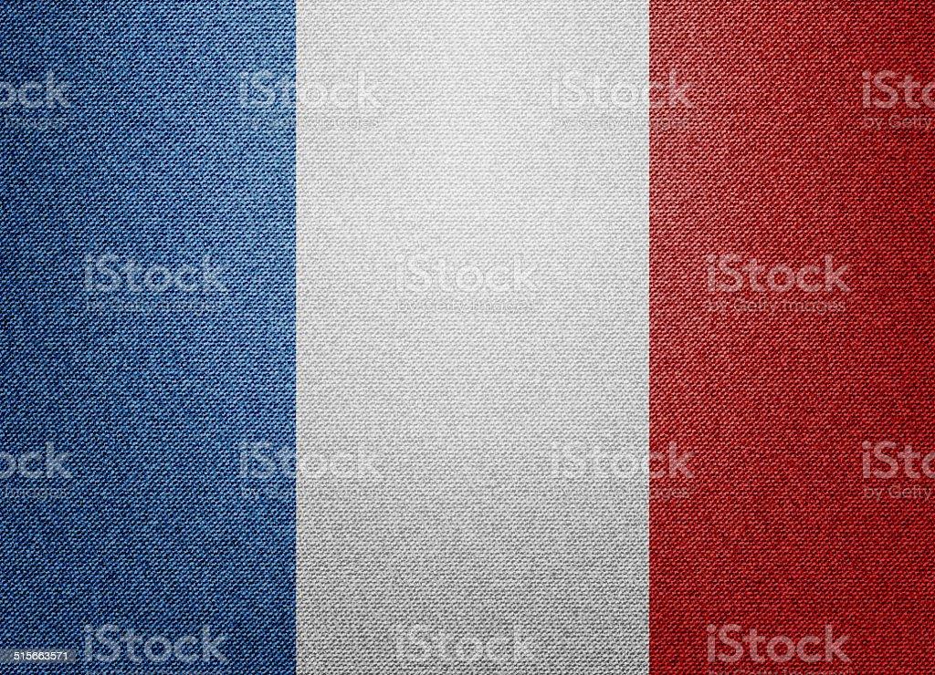 Denim France flag stock photo