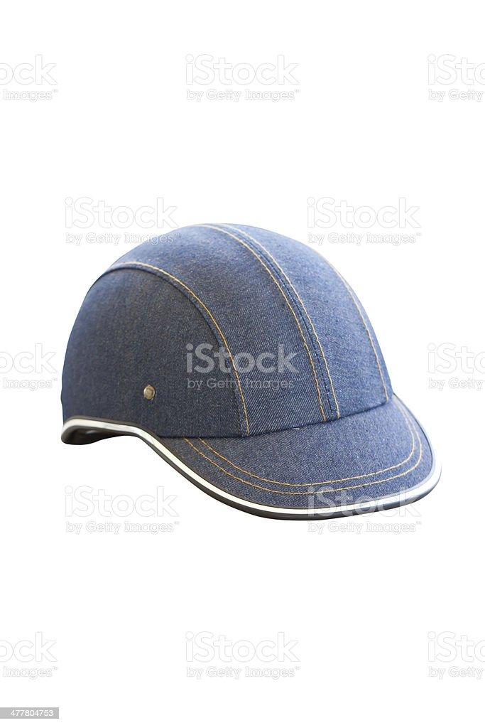 Denim helmet isolated on white. royalty-free stock photo