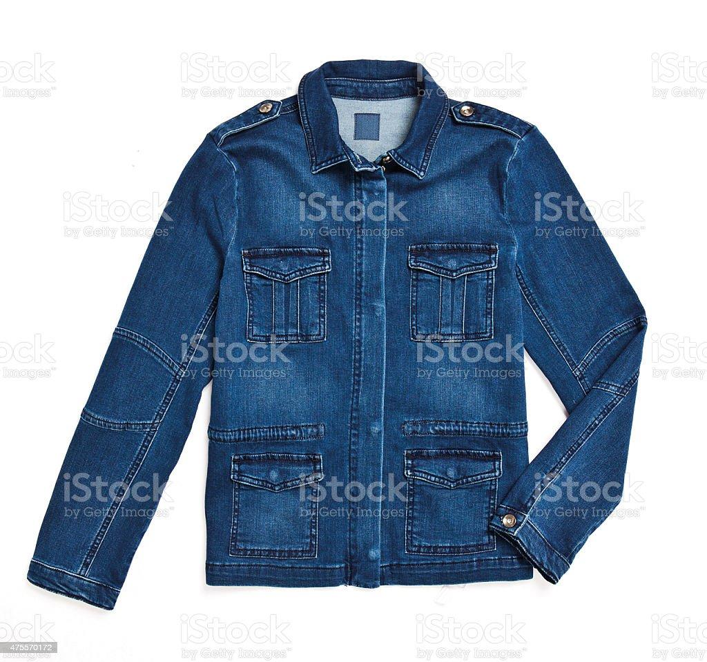 Denim Jacket with Path stock photo