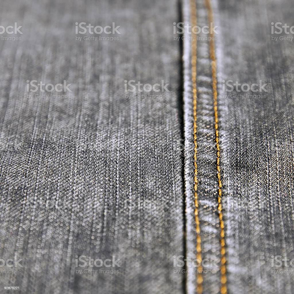 Denim Jeans (gray, black, close-up) royalty-free stock photo