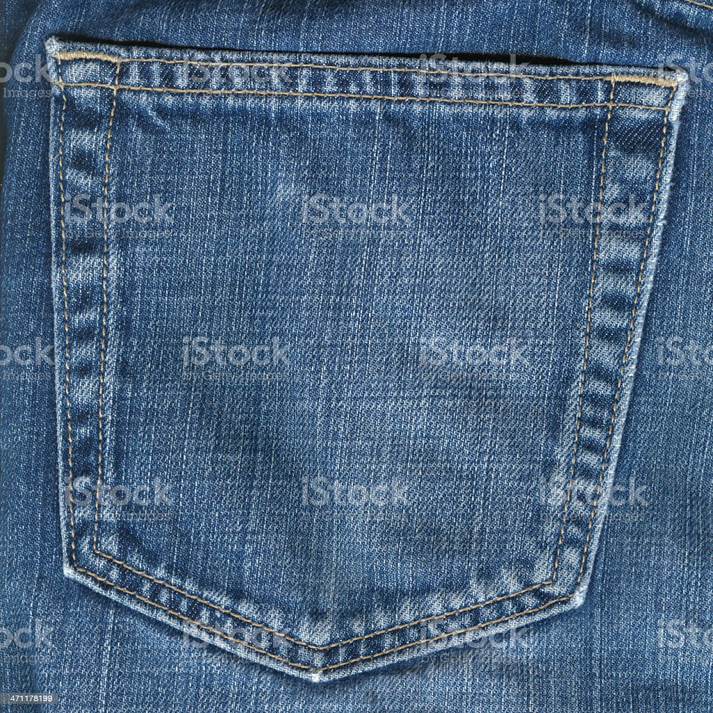 XXL Denim Jeans Pocket,  Very Detailed, 19mpx royalty-free stock photo