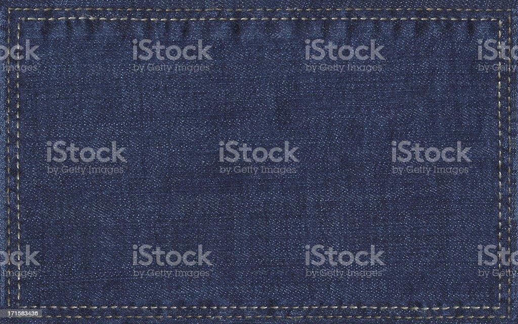 denim label royalty-free stock photo