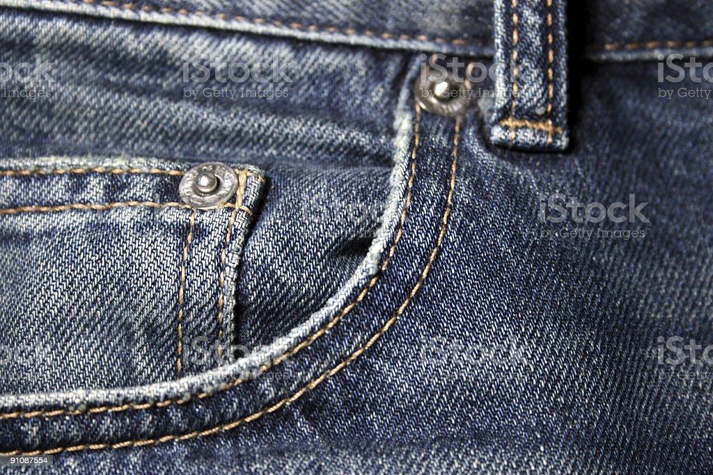 Denim Pocket Closeup stock photo