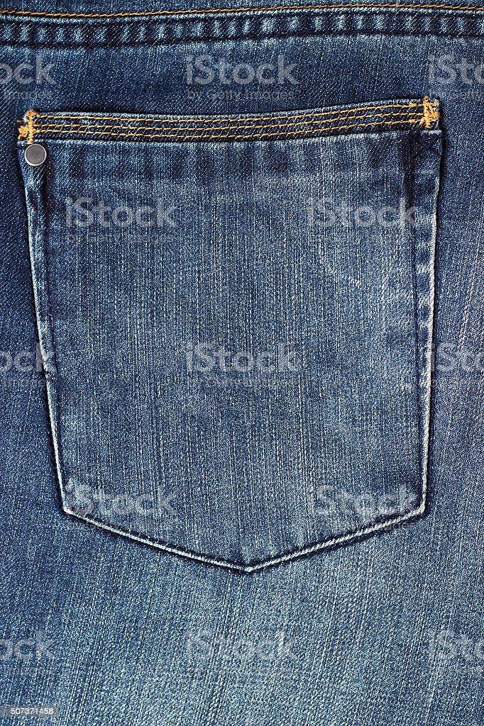 denim pocket stock photo