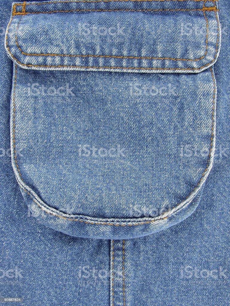 denim pocket royalty-free stock photo
