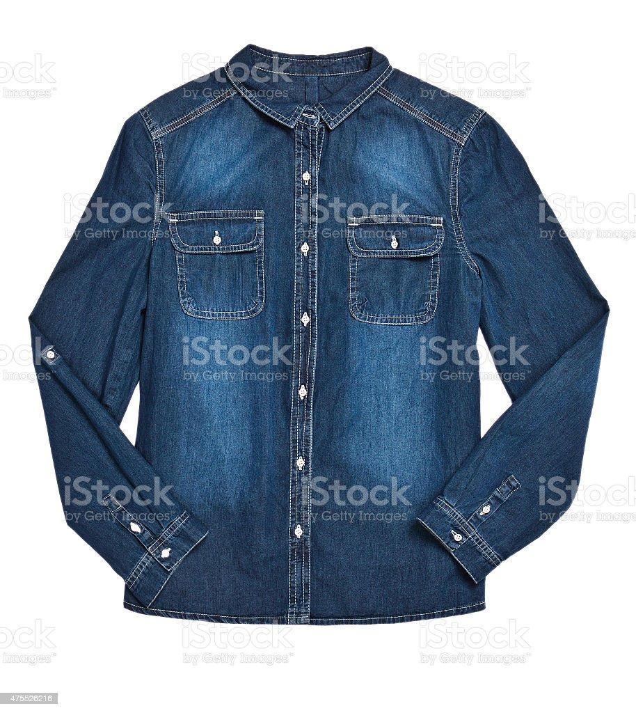 Denim shirt stock photo