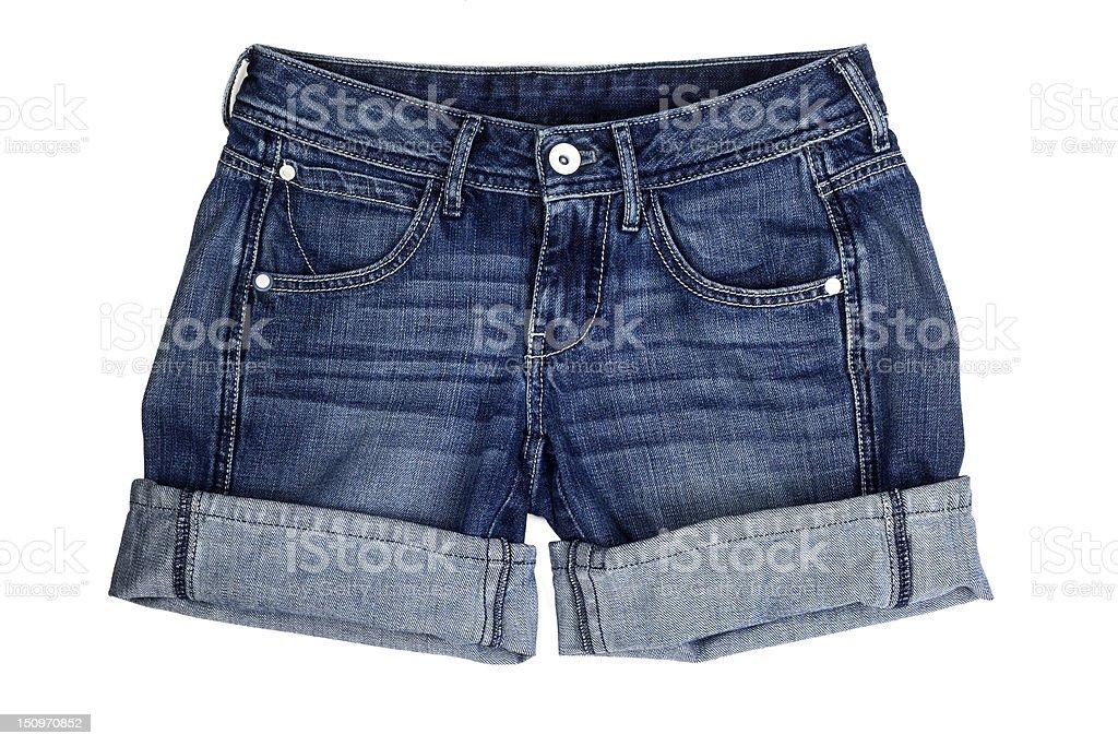 denim shorts stock photo