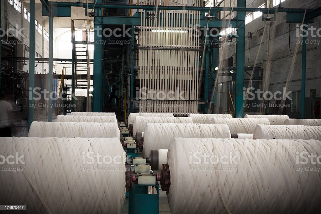 Denim Textile Industry - Rope Dyeing Machine royalty-free stock photo