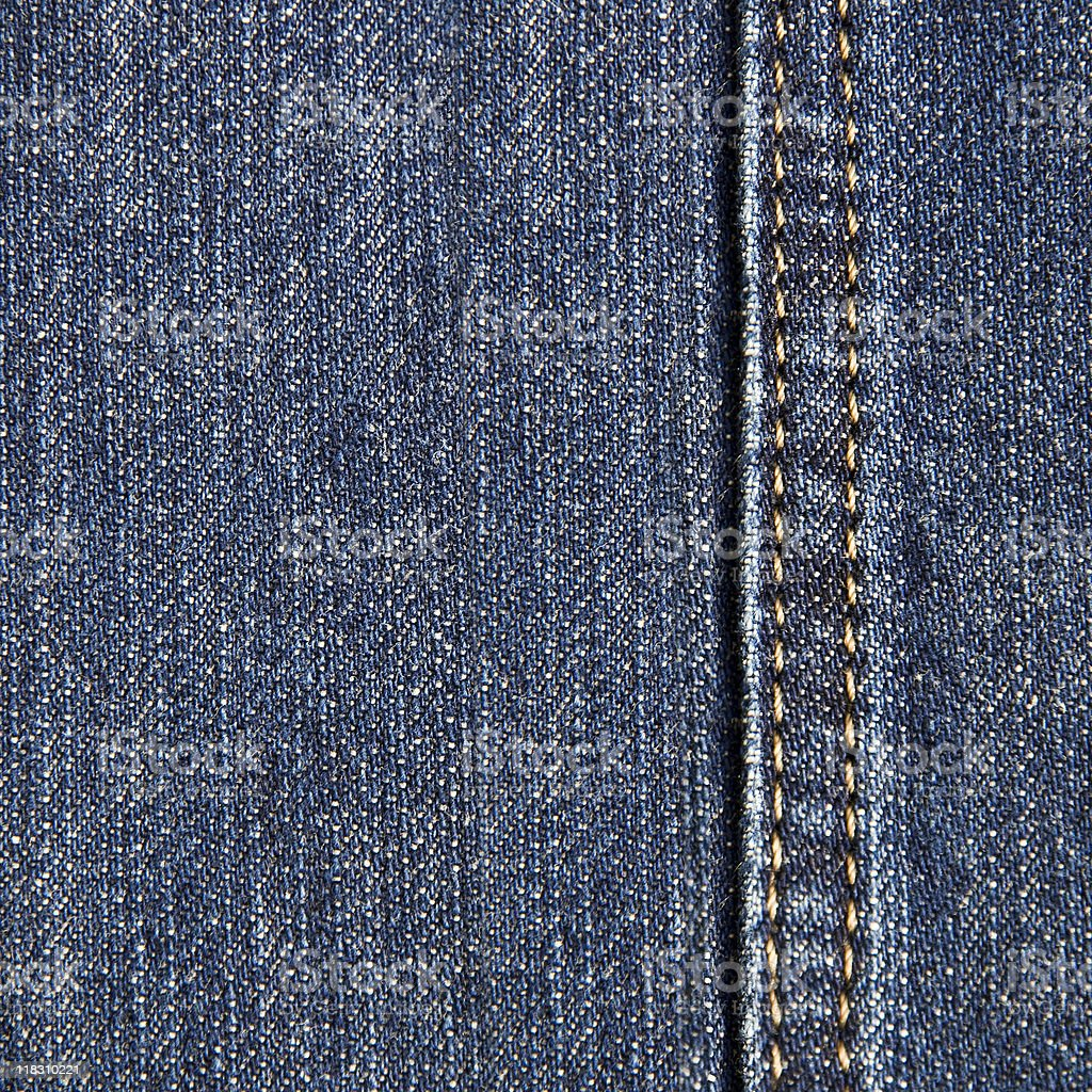 Denim texture with seam royalty-free stock photo