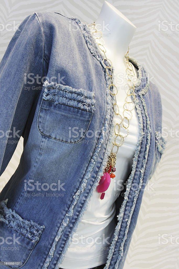 Denim Vest Feminine Clothing Fashion royalty-free stock photo
