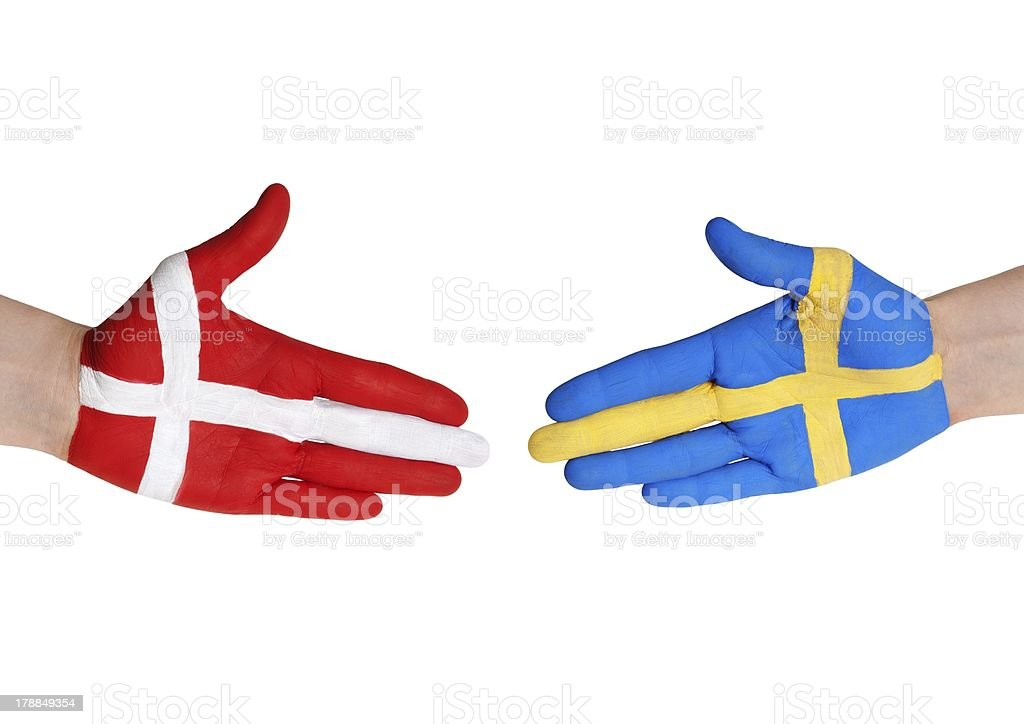 denmark and sweden royalty-free stock photo