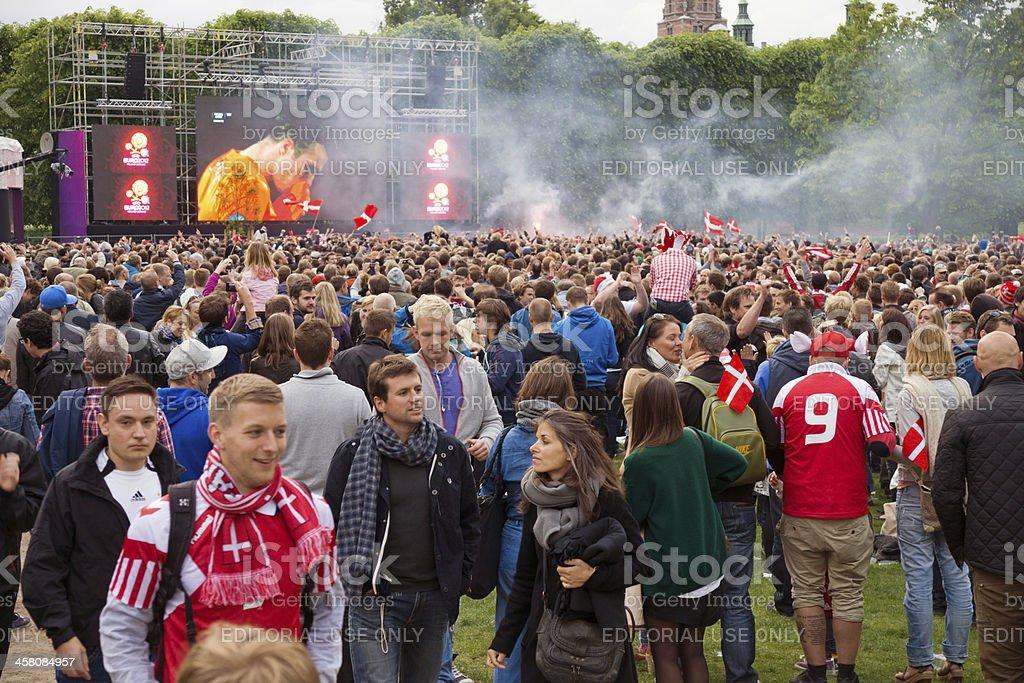 Denmark beats Holland - Euro 2012 stock photo