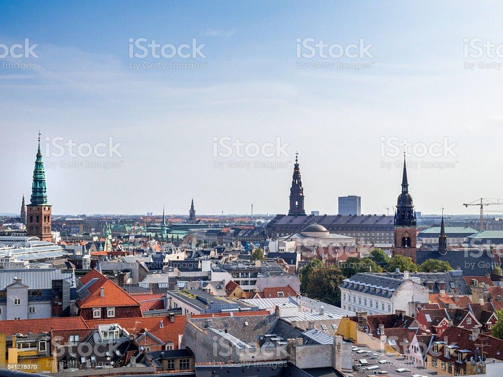 Denmark, Copenhagen, Skyline stock photo