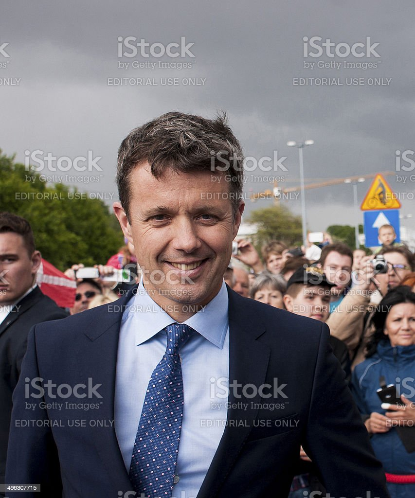 Denmark Crown Prince Frederik visit Poland stock photo