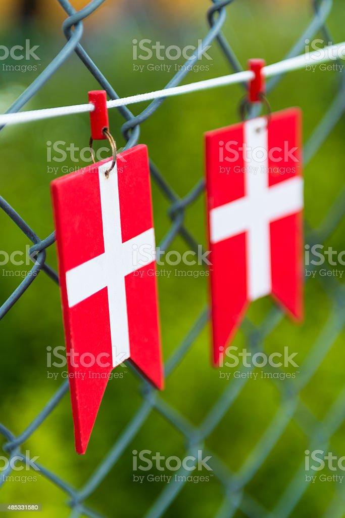 Denmark Flag stock photo