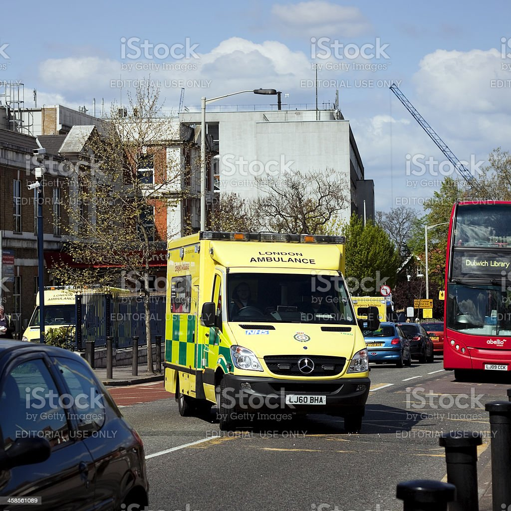Denmark Hill and King's College Hospital royalty-free stock photo