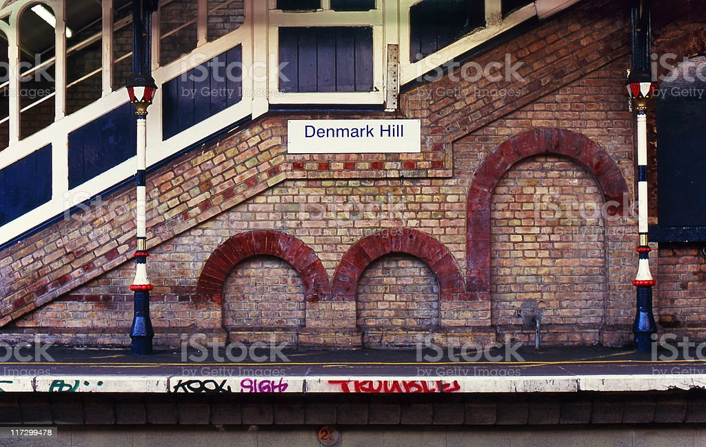 Denmark Hill railway station, London royalty-free stock photo