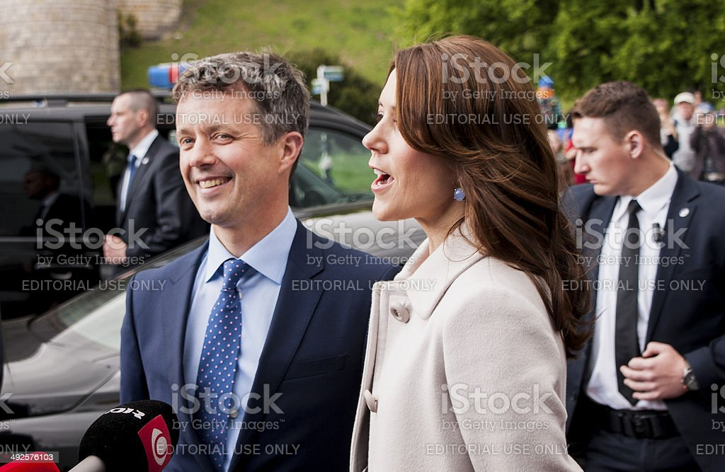 Denmark Prince Frederik and Princess Mary stock photo