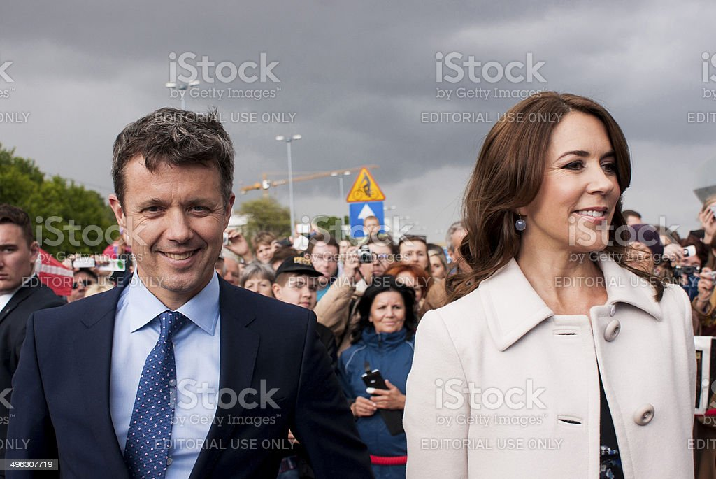 Denmark Prince Frederik and Princess Mary visit Poland stock photo