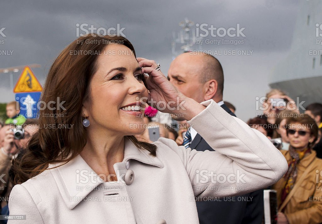 Denmark Princess Mary visit Poland stock photo