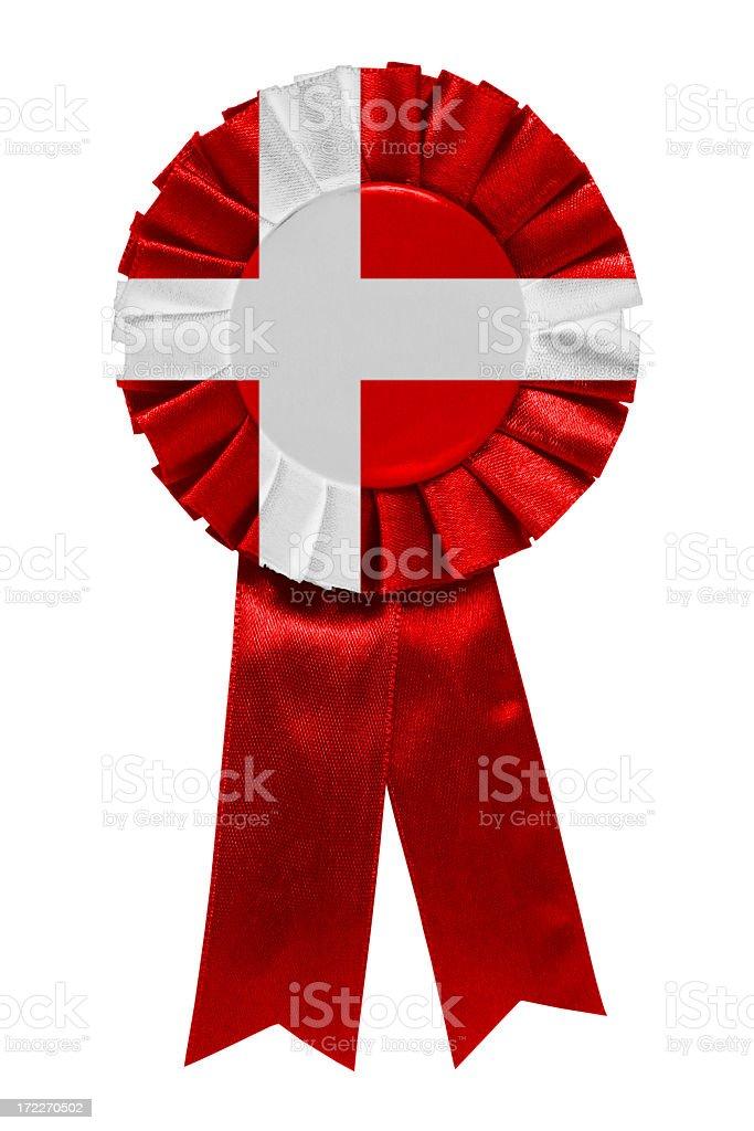 Denmark ribbon royalty-free stock photo