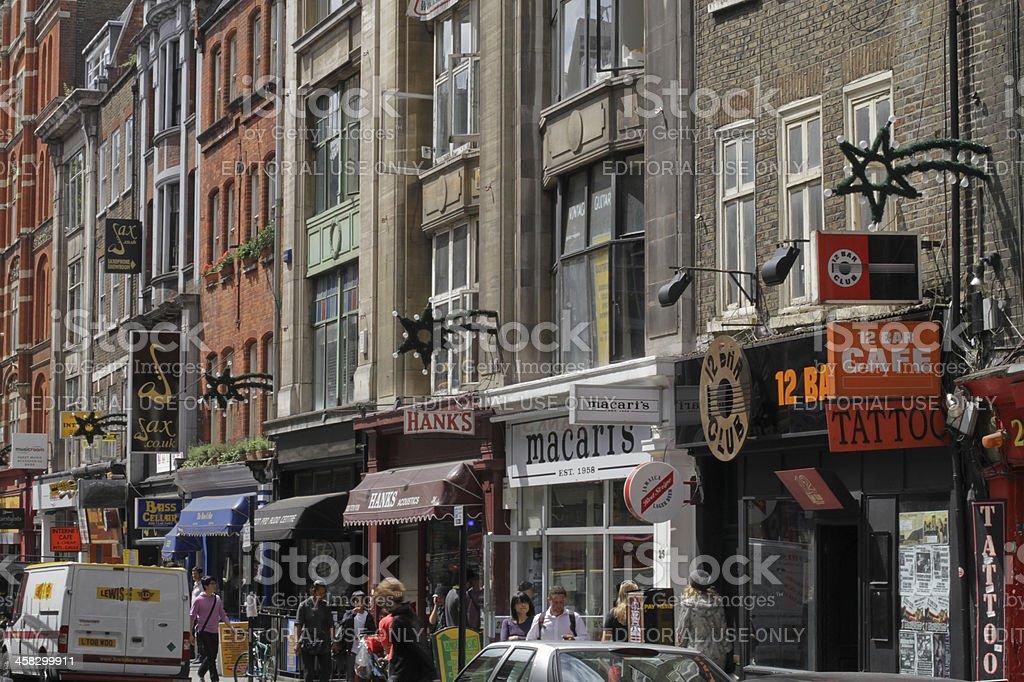 Denmark Street in London royalty-free stock photo