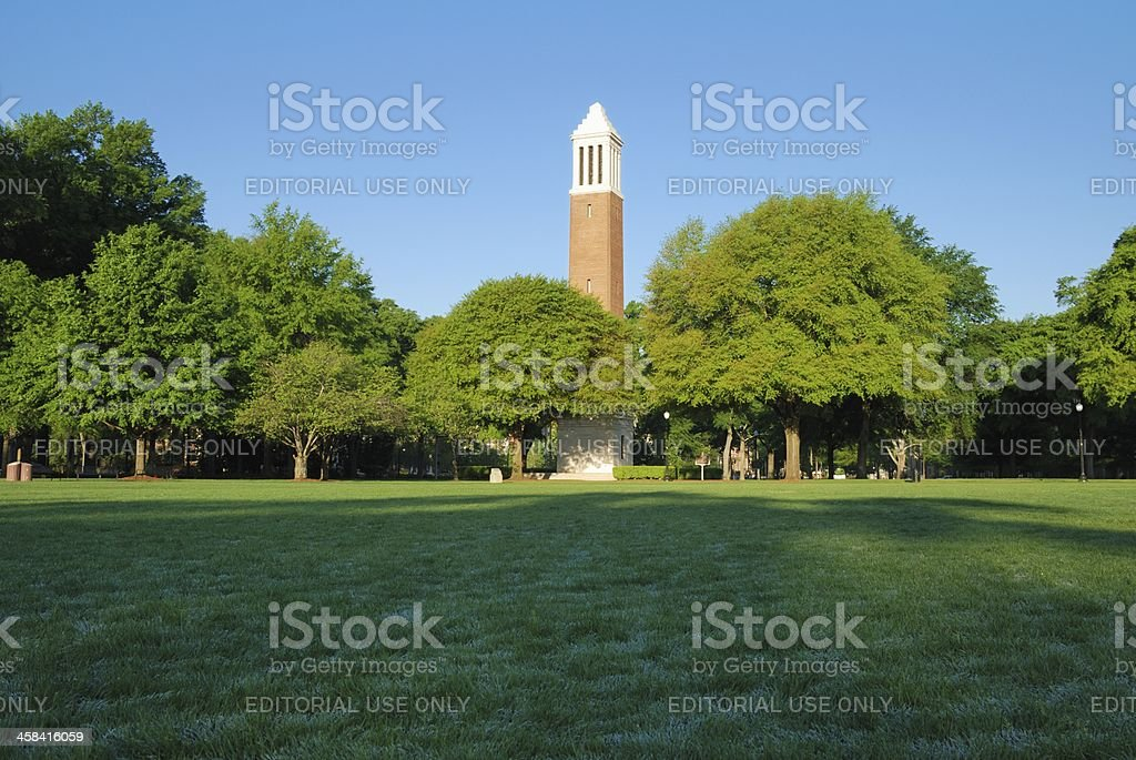 Denny Chimes on The University of Alabama quad stock photo