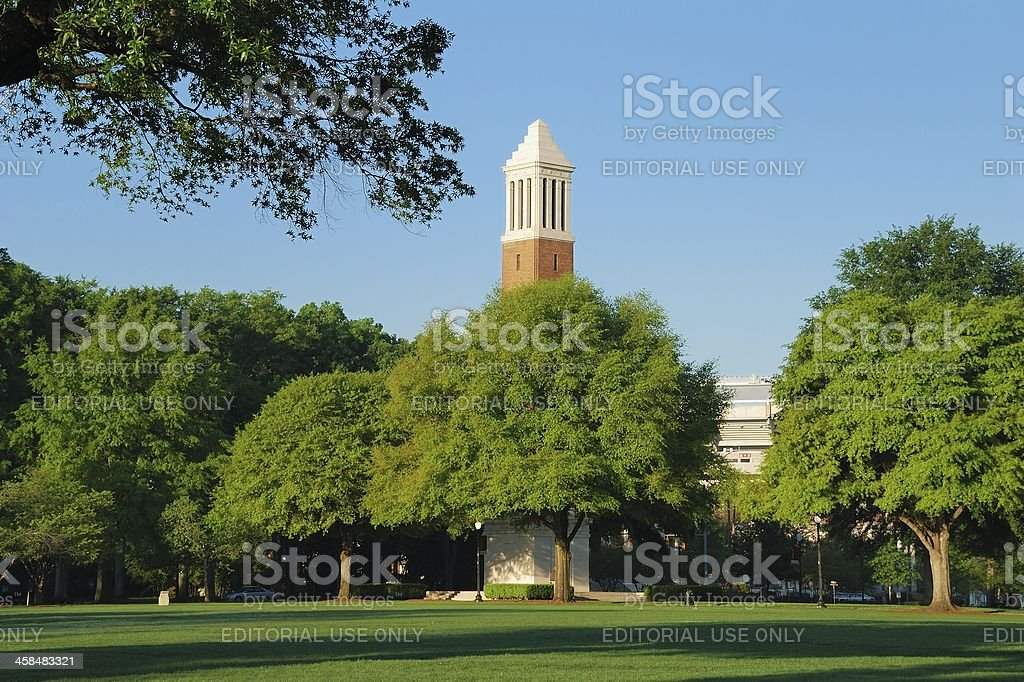 Denny Chimes on UA Campus stock photo