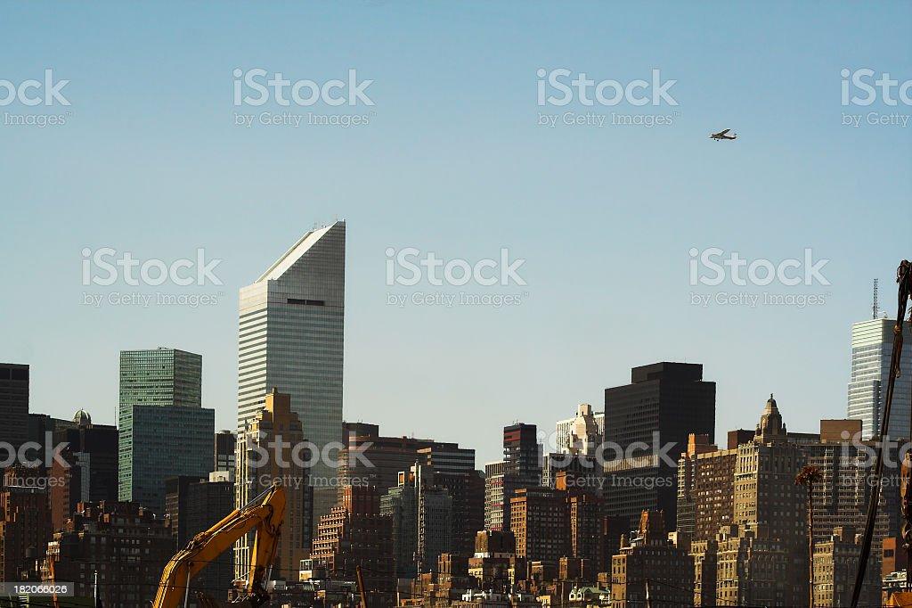 Dense City Skyline stock photo