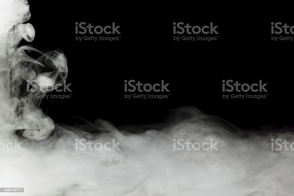 dense fog frame stock photo