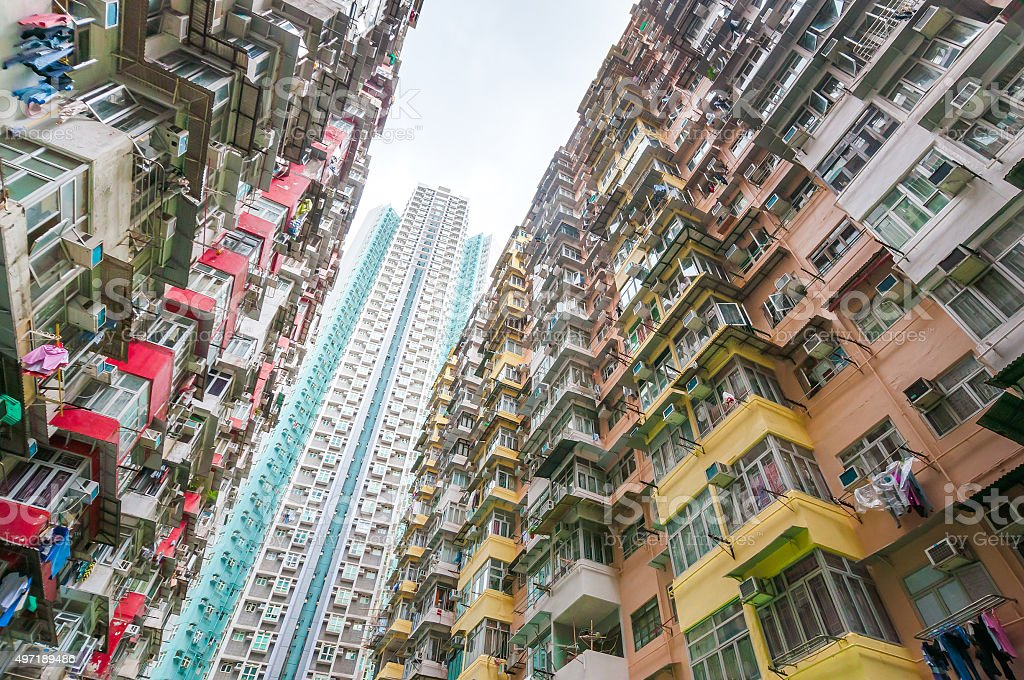 Dense residential building stock photo