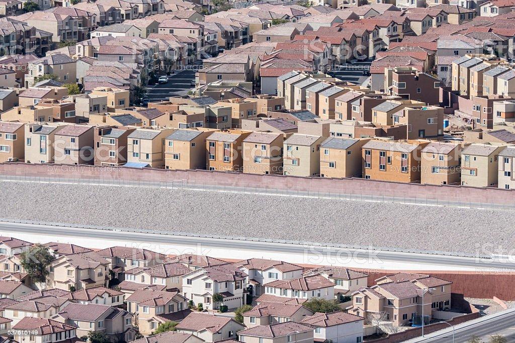 Dense Suburbia stock photo