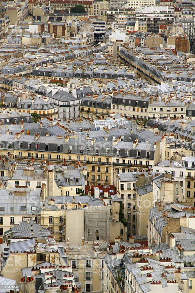 Densely Packed Paris royalty-free stock photo