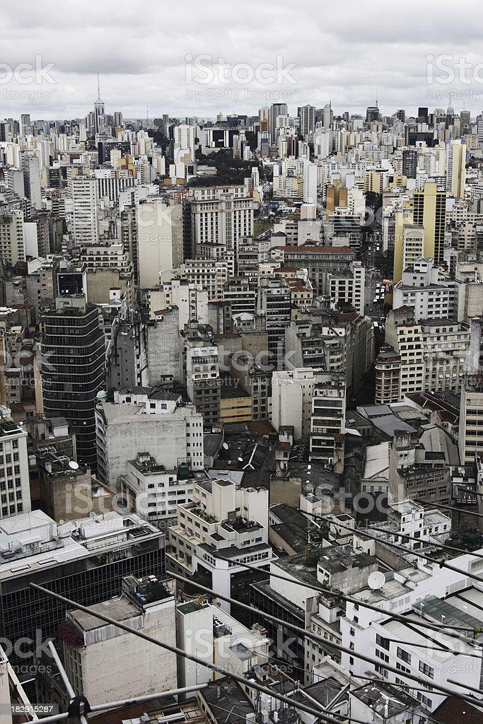 densly build area in sao paulo brazil stock photo