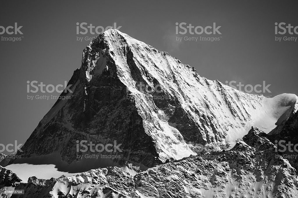 Dent Blanche black and white stock photo