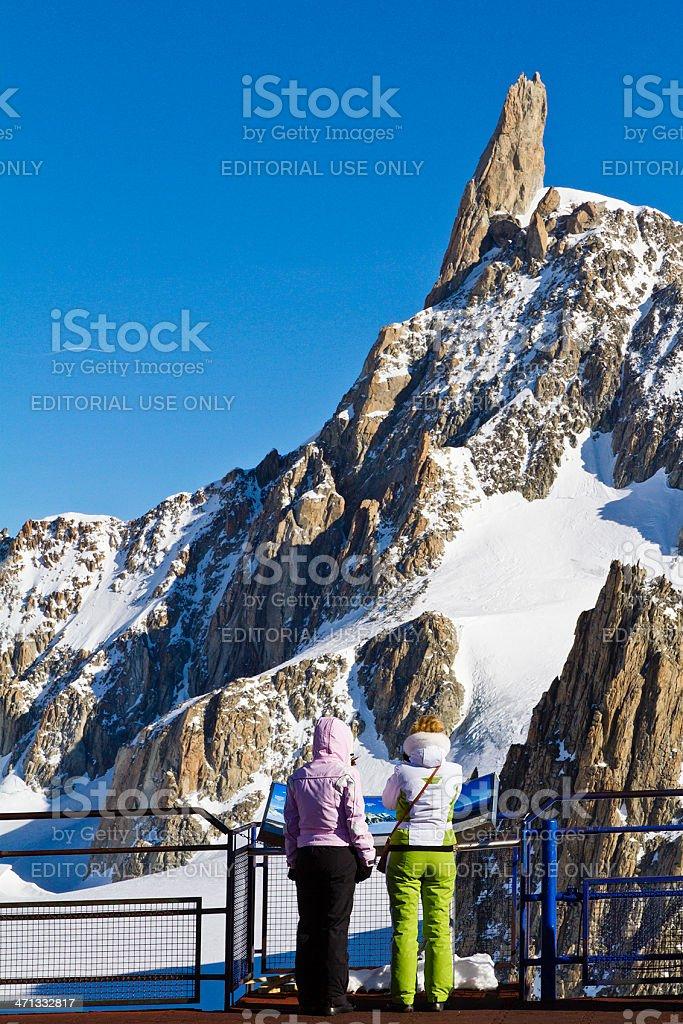 Dent du Geant, Mont Blanc Massif stock photo