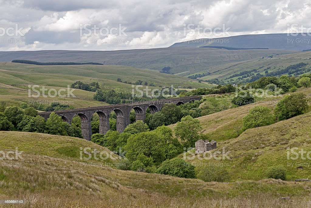 Dent Viaduct Yorkshire. stock photo
