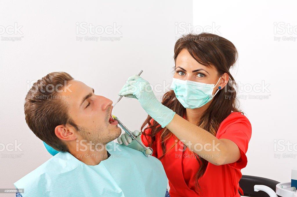 Dental anesthesia stock photo