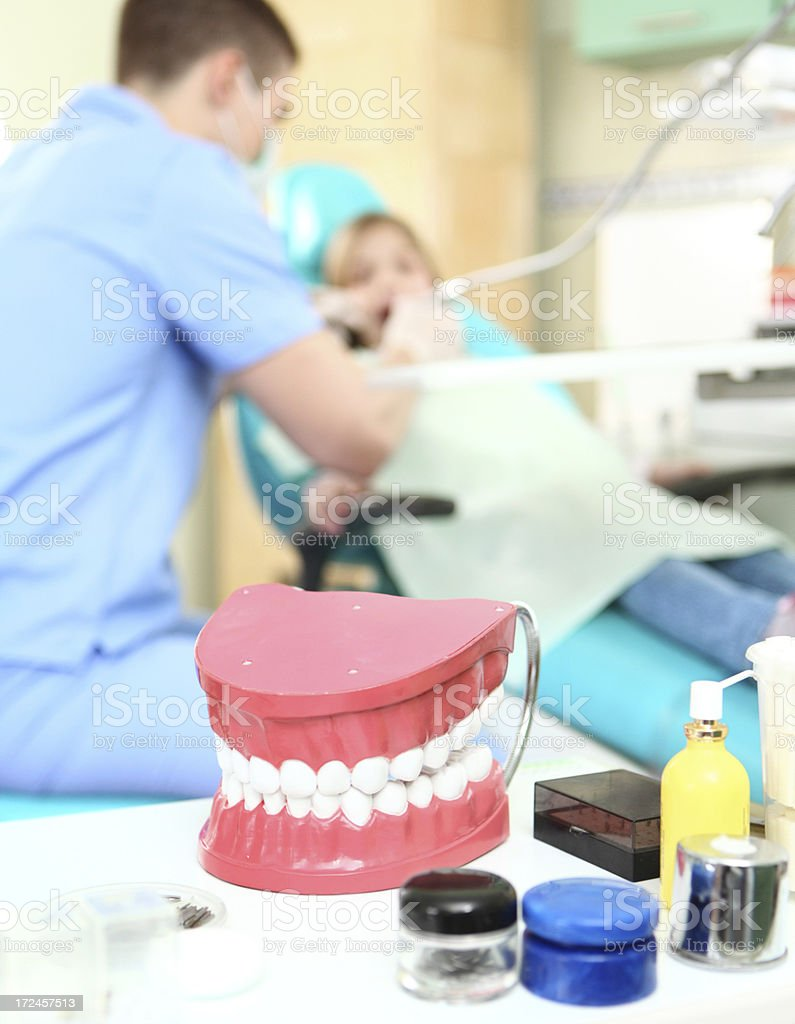 Dental background. royalty-free stock photo
