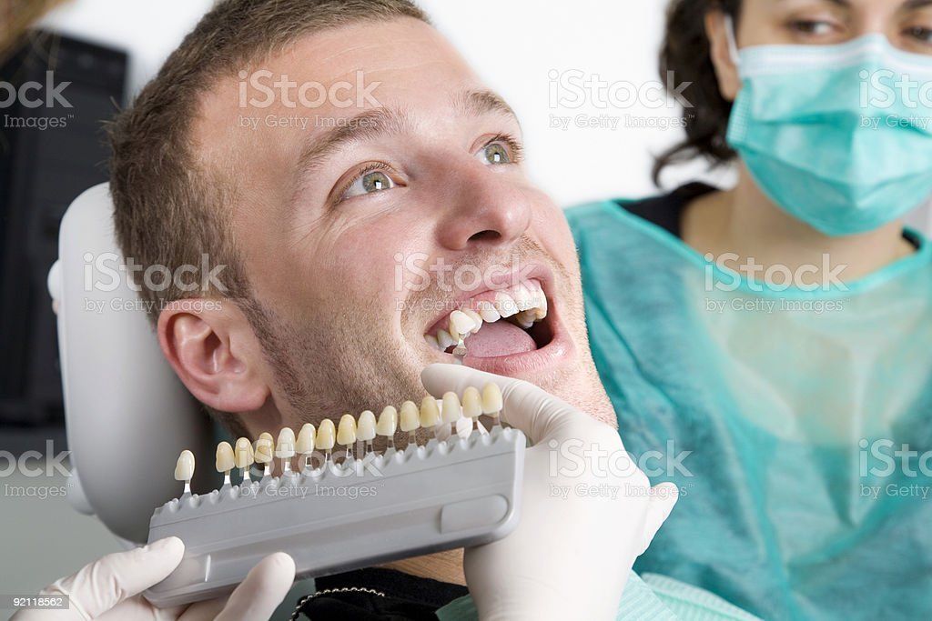 Dental bleaching treatment stock photo
