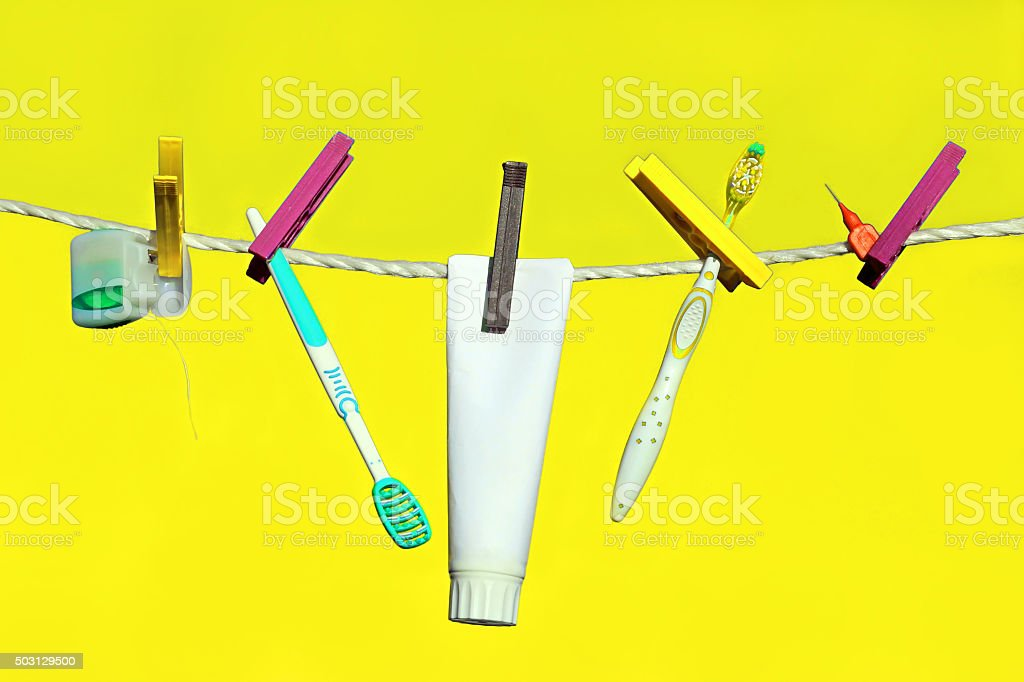 dental care and oral hygiene stock photo