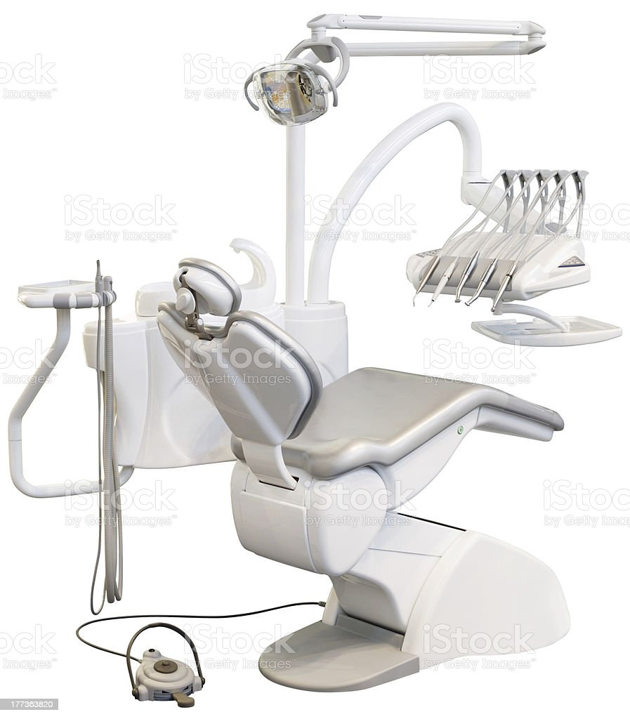 Dental Chair Cutout royalty-free stock photo