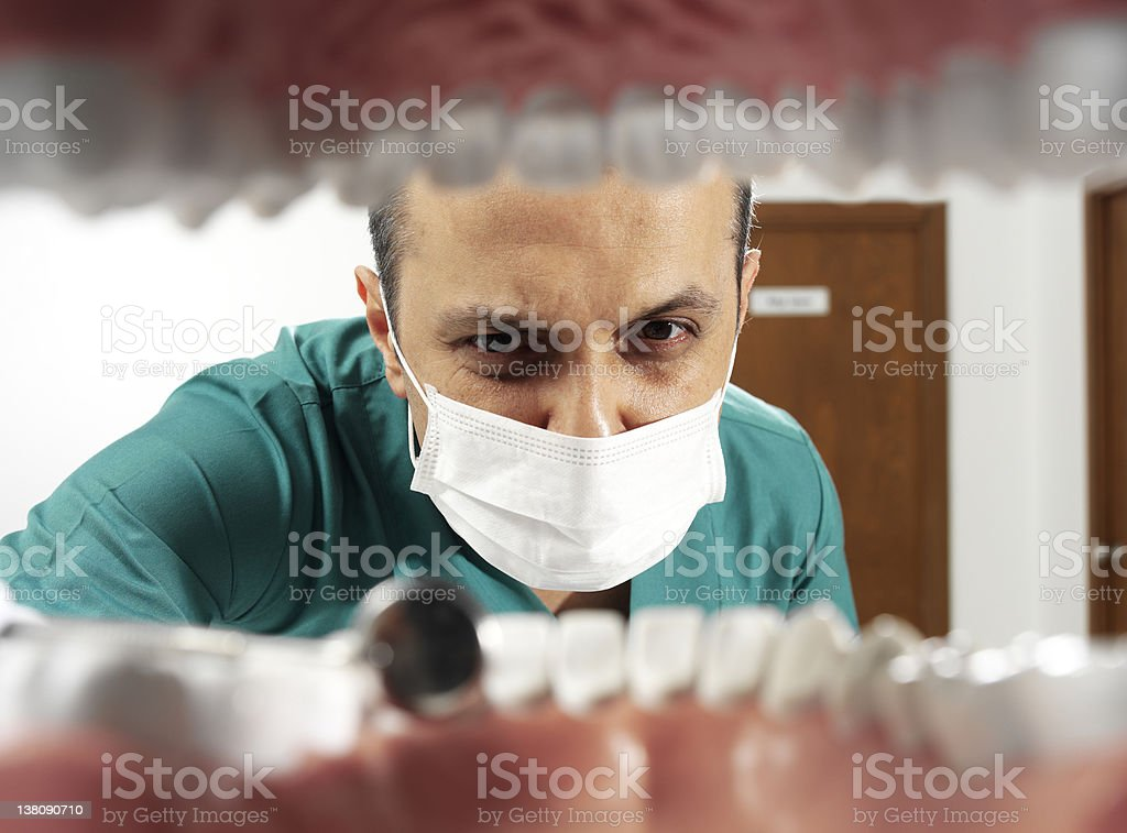 dental check-up royalty-free stock photo