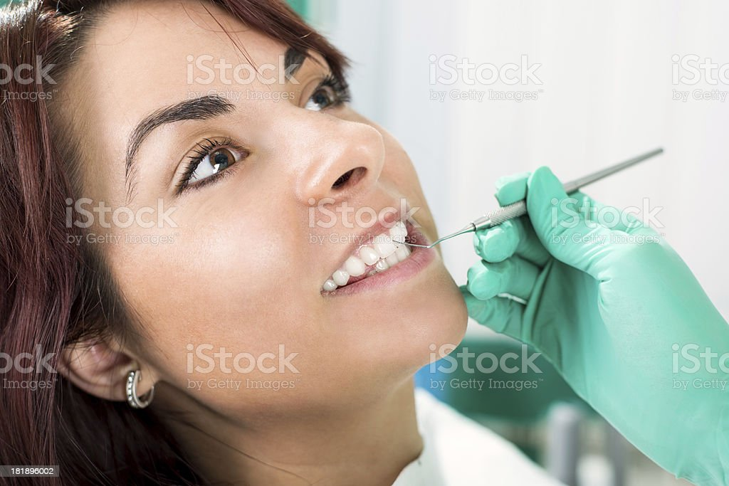 Dental Cleaning royalty-free stock photo