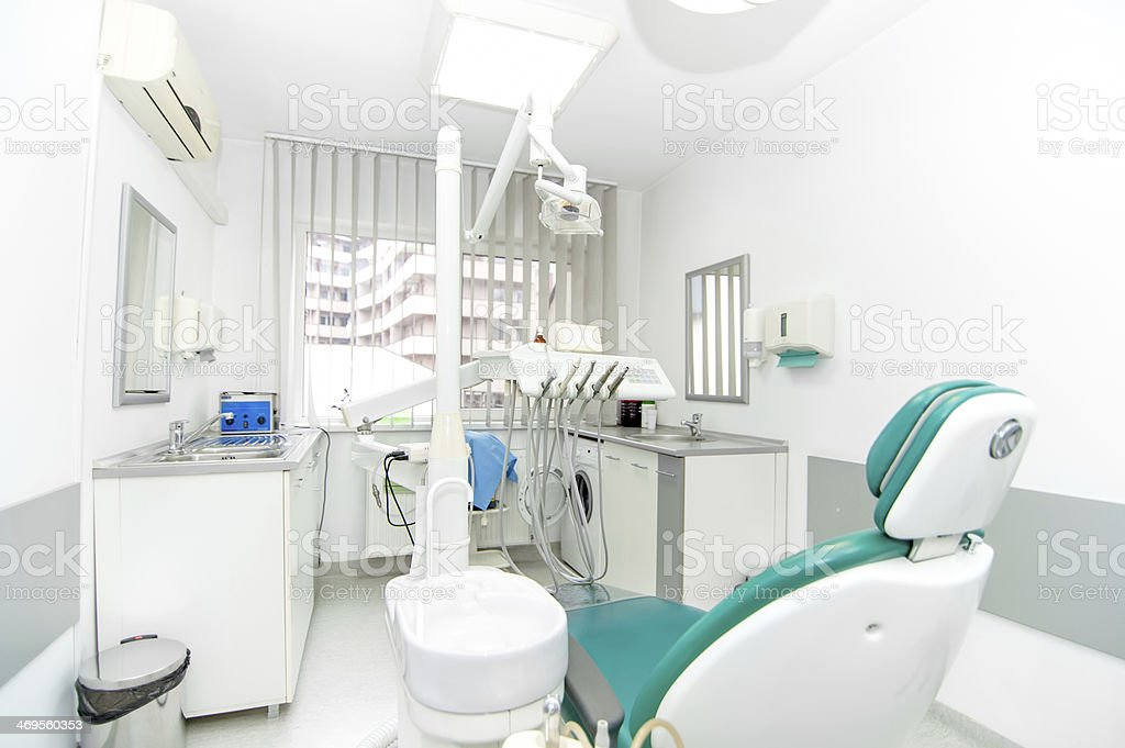 dental clinic interior design with working tools and professiona stock photo