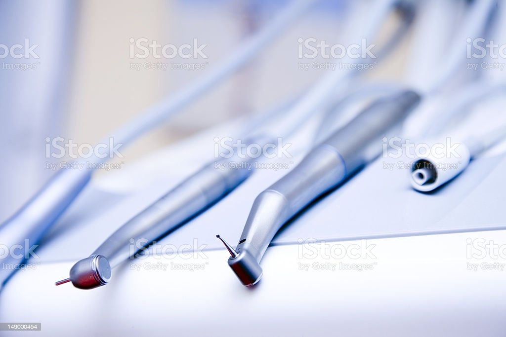 Dental drill stock photo