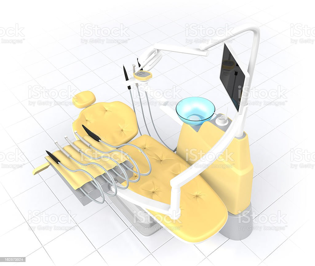dental equipment in perspective view royalty-free stock photo