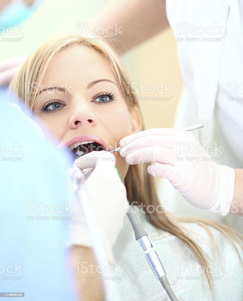 Dental exam. royalty-free stock photo