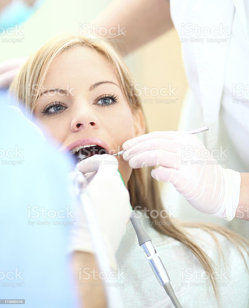 Dental exam. stock photo