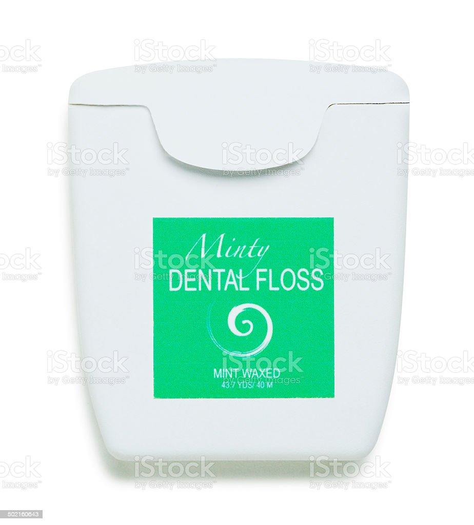 Dental Floss on White stock photo